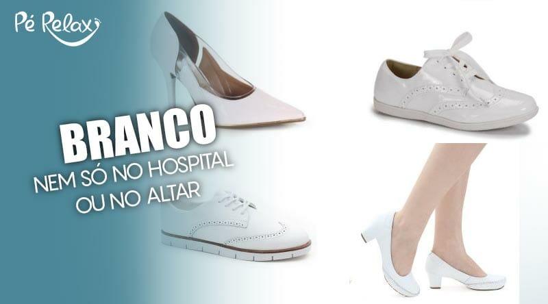 ac3006b5db Sapato Branco  mais do que área da saúde ou subida ao altar!