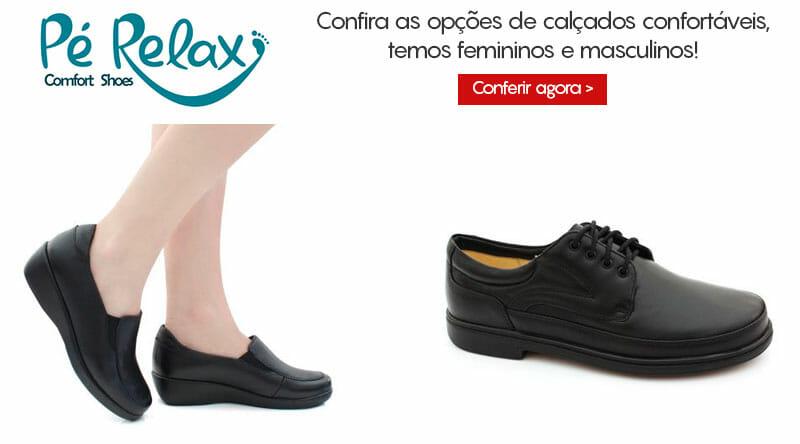 1ac537d3e A Pé Relax possui em sua loja uma linha completa de sapatos confortáveis,  tanto femininos, quanto masculinos para atender a todos os gostos e  necessidades.